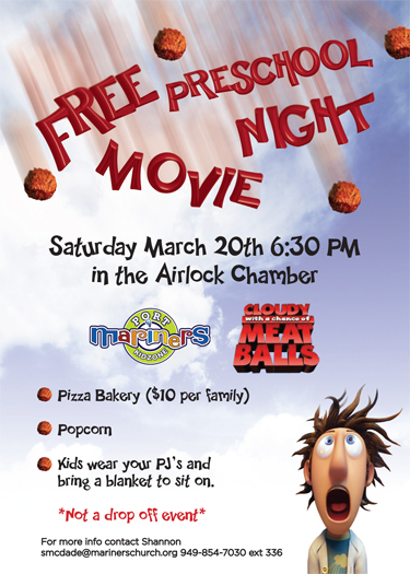 Family Movie Night Flyer Once i knew what the movie